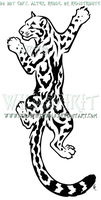 Climbing Clouded Leopard Design by WildSpiritWolf