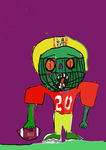 A zombie NFL player by Noranoragami