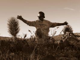 Me : with 2 baby joshua trees by ClymberPaddler