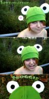 Froggie Hat by silver-raindrops
