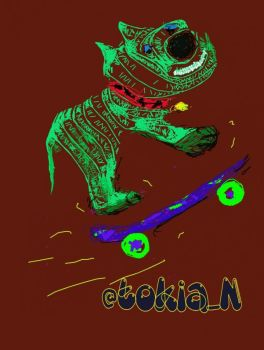Skating DOG by Wir3Zebra