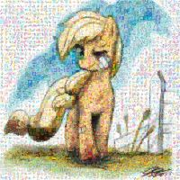 Applejack mosaic by Lacon-te