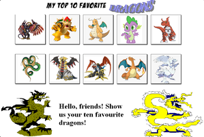 Dancrew2010's Top 10 Dragons by Dancrew2010
