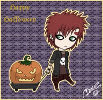 Gaara Halloween Chibi by DeadPeppermint