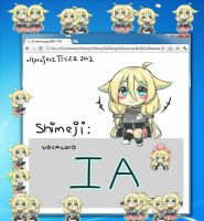 Vocaloid IA Shimeji by projectTiGER