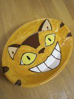 Cat Bus Totoro Ceramic Plate by Melon-love