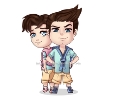 Davenport and Thaddeus | Chibi by MiguelAmshelo