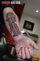 Terminator style tattoo by yayzus