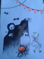 Doodle: Curious Ghouls by OpheliaAntoinette