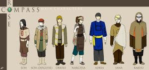 COMPASS ROSE: Main Characters by Benzophenone-4