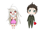 shiro and ganta by xwood-peckerx