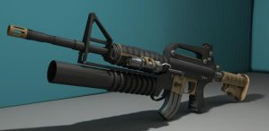 3D M4A1 Assault Rifle by BlooCoops