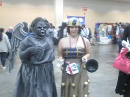 Anime Boston: Dalek and a stone Angel! by XEPICTACOSx