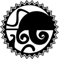 Aztec-Tribal Moon and Sea by gridlockd