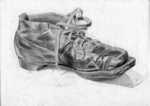 A leather shoe by Nalom