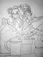 Class Drawing - Flowerbox by MaydayParker