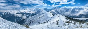 Western Tatra Mts. panorama. by Dark-Raptor