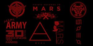 30 Seconds to Mars brush set by Tiley
