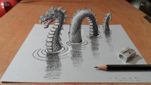 3D Loch Ness Monster by VamosArt