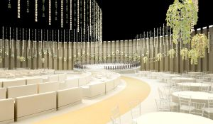 3D wedding stage perspective by Nhelskie