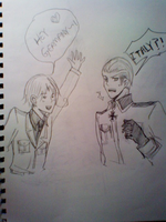 Germany Italy Drawing Maybe. by VocaloidRinLen