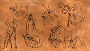 Creature Designs by Impalasart