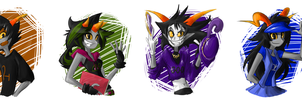 Fantrolls Portraits by 7-Days-Luck
