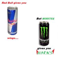 Red Bull VS. Monster by TWFFOMA-xD