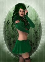 Emerald Gothic Beauty by faegatekeeper