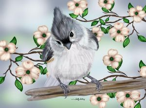 Tufted Titmouse SGG by sallygilroy