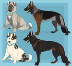 Art Trade .:Huskies and GSDs:. by SvalbardRanch