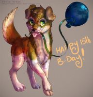 : Happy B-Day Watermelun! : by dar-a