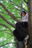 Emily In Tree by Bleed-Stock