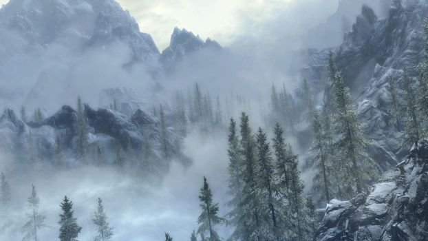 Skyrim Mountains by applejack324