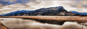 Columbia Lake 4 Picture Panorama by Joe-Lynn-Design