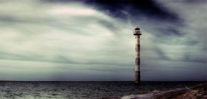 Tilted Lighthouse Panorama by Jno-J