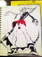 Drink and Draw- Maka and Soul by ChaseConley