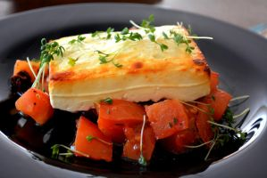 Baked Feta on a bed of Tomatos by Sintorion