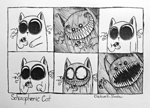 Schizophrenic Cat No.3: Lovely Little Ladybug by Clockwork-Shadow