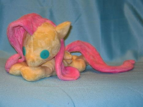 Beanie baby style Fluttershy plushie by WhiteHeather