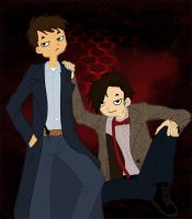 Jack Harkness and Eleven by Lily-Poulp