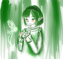 Saria-Green and White by Keaton-Corrine