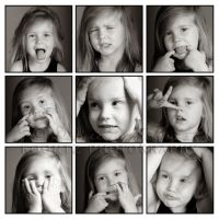 The Many Faces of a 3 Year Old by LillianAva
