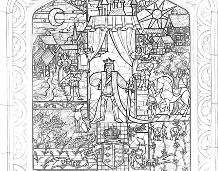 Beauty Beast Stained Glass coloring page by Richard67915