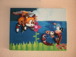 SONIC 2 Hama Beads by DSenderM