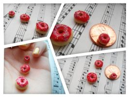 Miniature Doughnuts by love-dolly