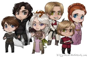 Game of Thrones Chibis by Kinky-chichi