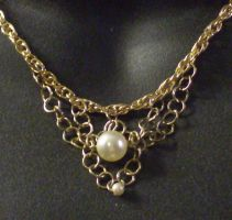 Gold Chains and Pearls 2 by MorganCrone