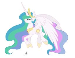 Fly Celestia by Twistare