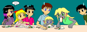 Eating Like Cats by pheeph